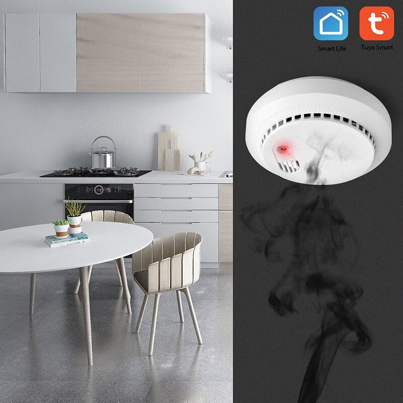 Wi-Fi детектор угарного газа и датчик дыма умный дом безопасности Tuya Smart Life APP работа с Alexa Google Home IFTTT