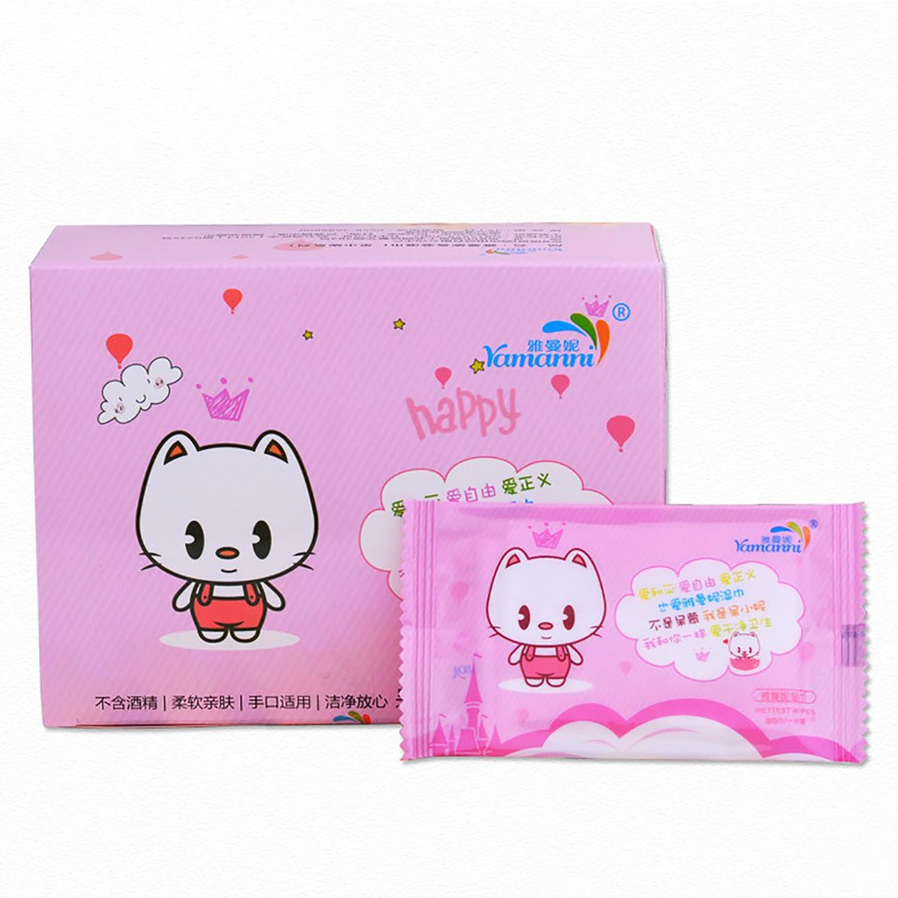 50pcs Soft Single-chip Wet Wipe  Non-woven Wet Towel Sterilizer Travel Adult Wet Wipes Portable Essential Care Hand-mouth