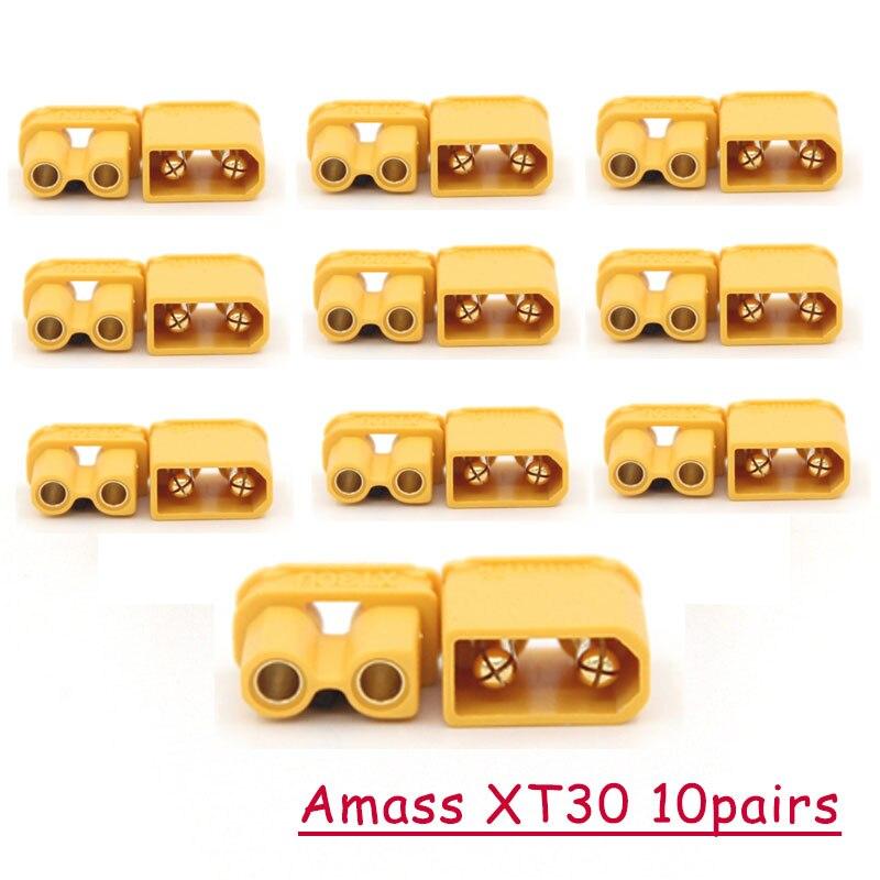 5 пар/10 пар Amass XT30UPB XT30 UPB 2 мм штекер мужской женский разъемы Разъем для RC lipo части батареи