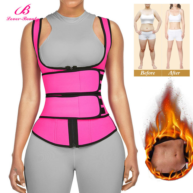 Lover-Beauty Neoprene Sauna Shaper Waist Trainer Corset Sweat Slimming Belt Women Weight Loss Compression Trimmer Workout Vest