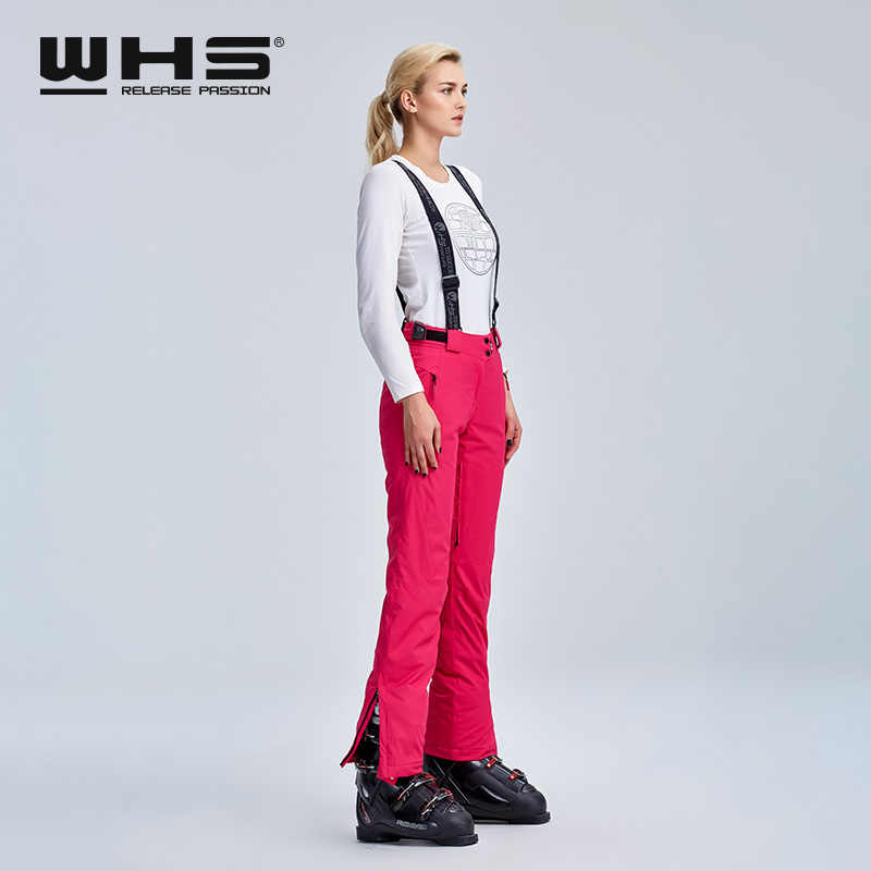 WHS women's SKI TROUSERS outdoor thermal cotton trousers winter snow water-proof, wind-proof and breathable sports fashion