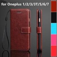 Oneplus-funda con tarjetero para móvil, carcasa de piel sintética con tapa retro Para Oneplus 3, 3T, 1 + 5, 5T, 6, 6T, One Plus, 7, 7T, 8 Pro