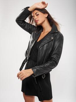 VAINAS European Brand Women Genuine leather jacket for women Real leather jacket Motorcycle jackets Biker jackets Nelly multi zippers genuine leather jacket women streetwear motorcycle 100