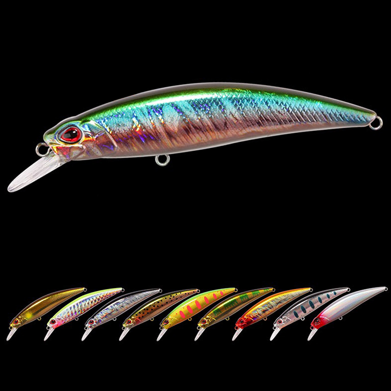 1 pieces Japanese Design Pesca Wobbling Fishing Lure <font><b>70mm</b></font> 10g Sinking <font><b>Minnow</b></font> Isca Artificial Baits For Bass Perch Pike Tro image