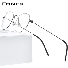 FONEX B Titanio Occhiali Telaio Donne Occhiali Da Vista Degli Uomini di New Coreano Miopia Montature da vista Morten Senza Viti Eyewear 7510