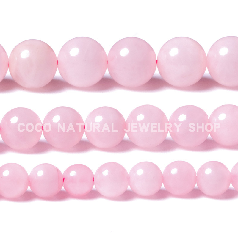 LanLi 6/8/10mm natural jewelr Rose Pink Quartz Loose Beads Natural Stones Suitable for DIY Fashion bracelet necklace Accessories(China)