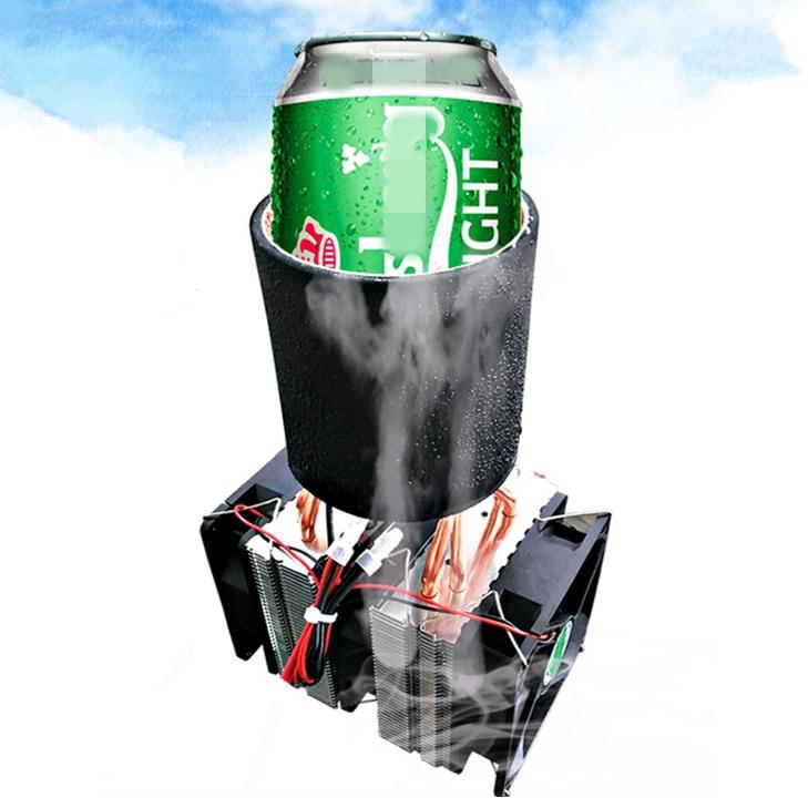 KOOLASON DIY PC Desktop Beverage Fast Cooling Cooler Water Peltier Semiconductor Fan Liquid Refrigeration