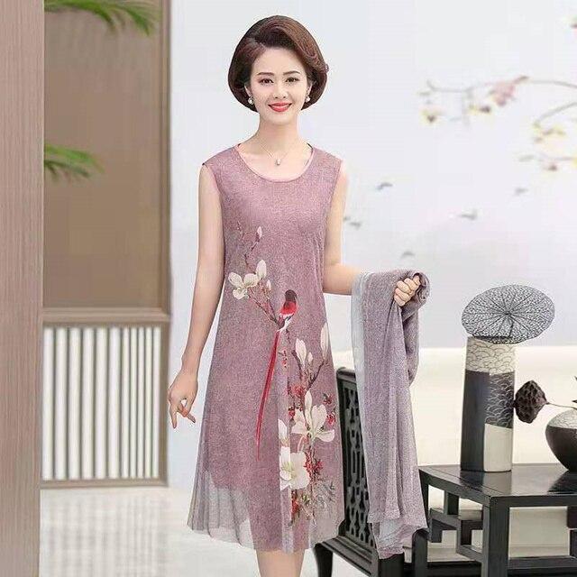 plus size women clothing two piece set 2021 Casual Slim spring summer Women Dress Cloak Set Female Elegant Summer Sundress 3