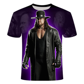 New 3D printing pattern WWE T-shirt Casual retro fashion cool man short-sleeved tee XXS-6XL