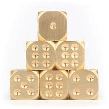 Dados de bronze cobre puro metal sólido dados mão polido barra suprimentos criativos mahjong peneira