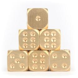 Dado de latón de metal de cobre puro, dado sólido, barra pulida a mano, suministros, tamiz creativo de Mahjong