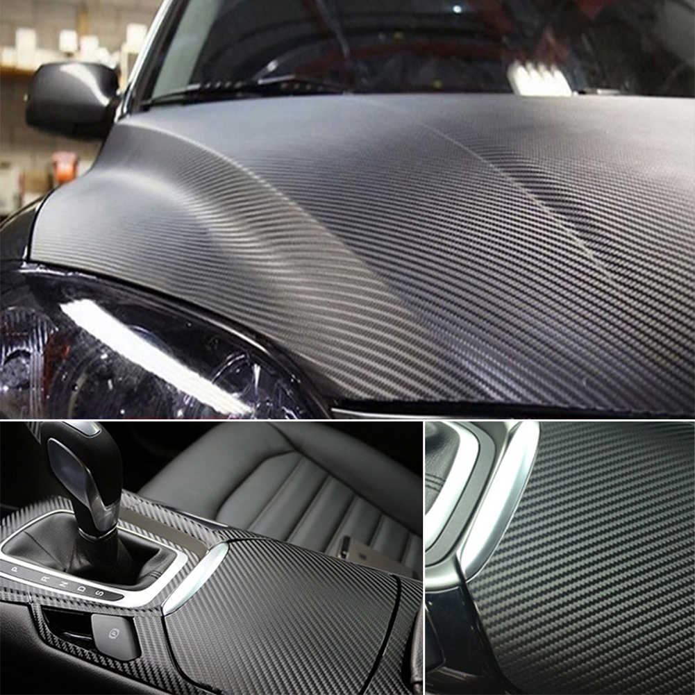 127 センチメートル * 10 センチメートル 3D 炭素繊維カラーフィルム車のステッカー防水 Diy のカースタイリングカーインテリアアクセサリー車チューニング Dropshiping