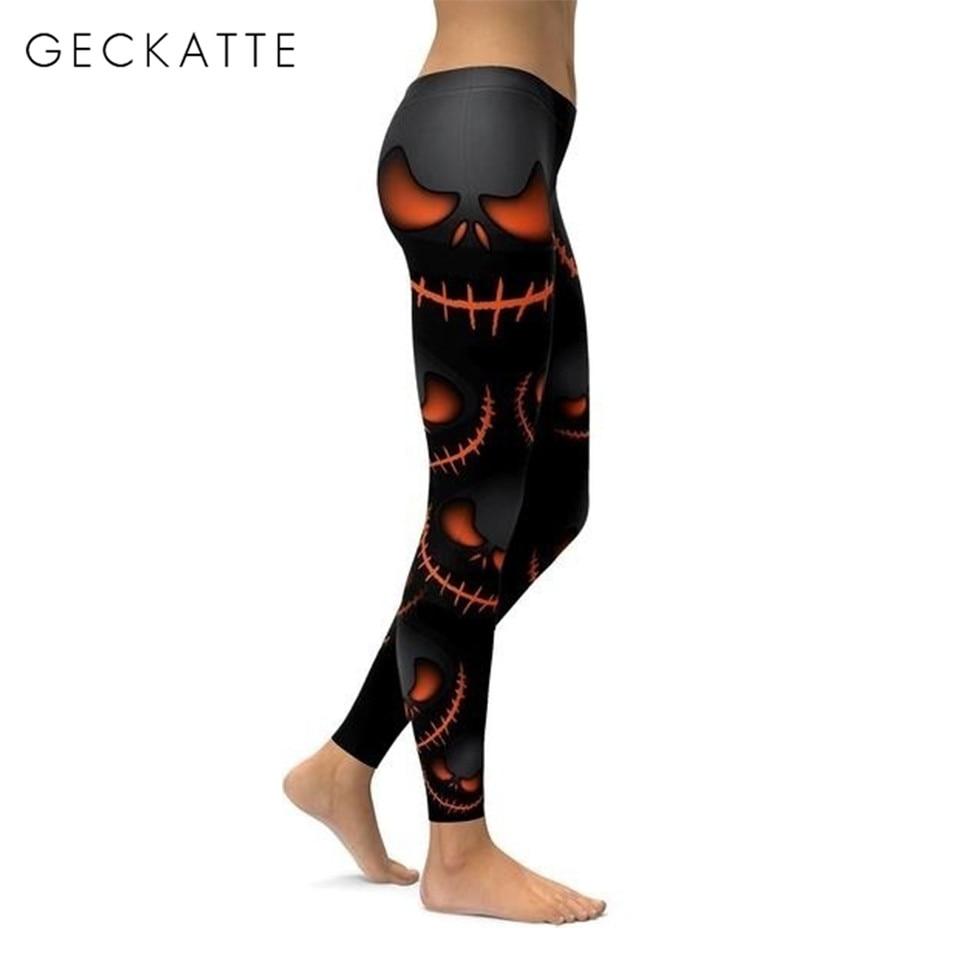 Nightmare Before Christmas Gothic Halloween Leggings Women Printed Plus Size Leggings High Waist Leggins Spandex Legging Mujer