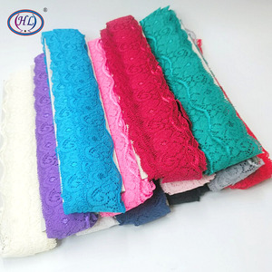 HL 3 yards/10yards 3.5CM Wide Elastic Lace DIY Clothing Spandex Underwear Wedding Dress Sewing Accessories