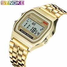 SYNOKE роскошный фирменный дизайн светодиодный Ретро часы G стиль часы водонепроницаемые часы для мужчин дешевые электронные цифровые часы Relojes