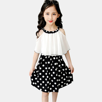 Girls Dot Pattern Casual Summer Dress