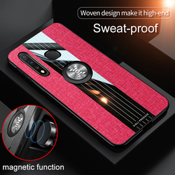 На Алиэкспресс купить чехол для смартфона for vivo y19 phone case magnetic ring with holder matte leather armor shockproof case for vivo u3 tpu silicone back cover shell