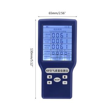 Co2 ppm meters tvoc hcho aqi carbon dioxide detector gas analyzer protable air quality tester 94pc