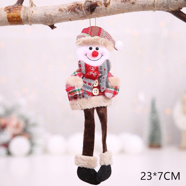 New Year 2020 Cute Santa Claus/Snowman/Angel Christmas Dolls Noel Christmas Tree Decoration for Home Xmas Navidad 2019 Kids Gift 53