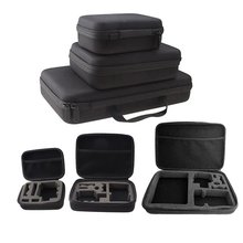 Portable Carry Case Hard Bag Sports Camera Accessory Anti-shock Storage Bag for Go pro Hero 3/4 SJCAM Action Camera smatree ga700 3 waterproof hard box carry case for gopro hero 7 6 5 4 3 3 2 1 for xiaomi yi sjcam action camera case