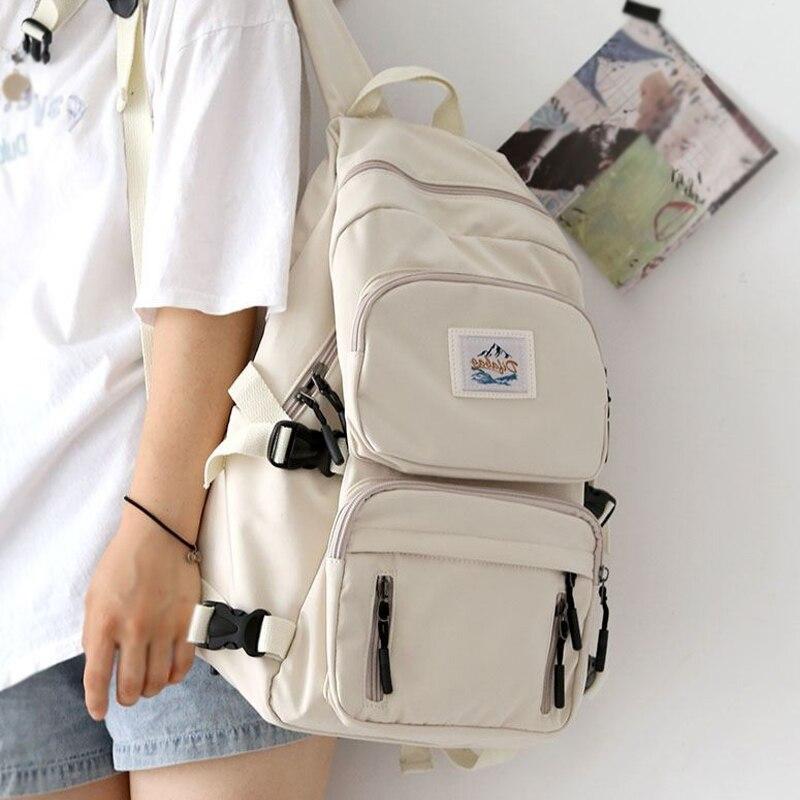 JOYPESSIE Female School Student Book Bag Travel Girls Rucksack Korean Fashion Women Waterproof Backpack For Teenager Mochila