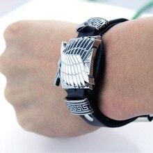 Bracelet Cosplay-Accessories Attack Legion Titan Shingeki No-Kyojin Anime Metal Prop