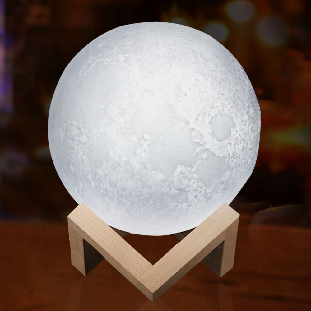 Luna Moon Lamp Night Light 3D Print Moonlight LED Dimmable Touch/Pat/Remote Switch Rechargeable Bedside Table Desk Lamp Dropship