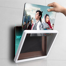 Punch-free wall-mounted flat-panel waterproof protective shell, oil and smoke and dustproof bathroom, kitchen, bedroom
