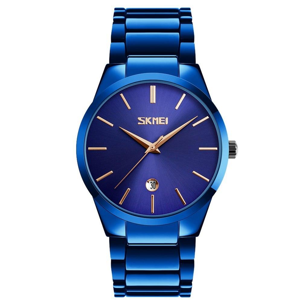 Korean Version Of The Trend Steel Belt Men's Quartz Watch Fashion Watch Wild Men's Steel Belt Quartz Watch Three Eyes