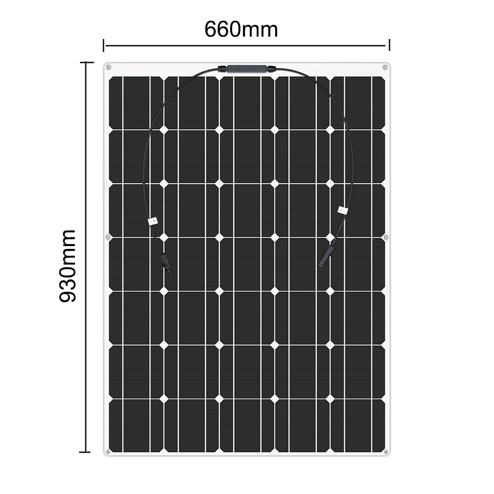 150w semi-flexível monocristalino célula solar módulo diy