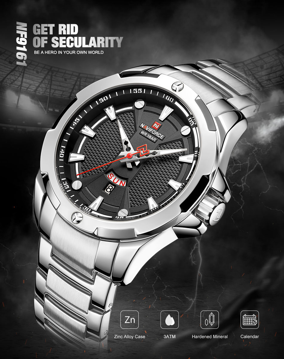 H2d9b5cab35924f5fae557ec25be7e0afc Men's Watches Top Luxury Brand NAVIFORCE Analog Watch Men Stainless Steel Waterproof Quartz Wristwatch Date Relogio Masculino