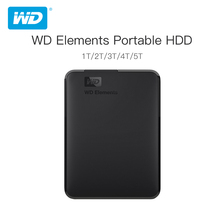 Western Digital WD Elementsแบบพกพาฮาร์ดดิสก์ภายนอก2.5 USB 3.0ฮาร์ดดิสก์ไดรฟ์500GB 1TB 2TB 3TB 4TBต้นฉบับสำหรับPCแล็ปท็อป