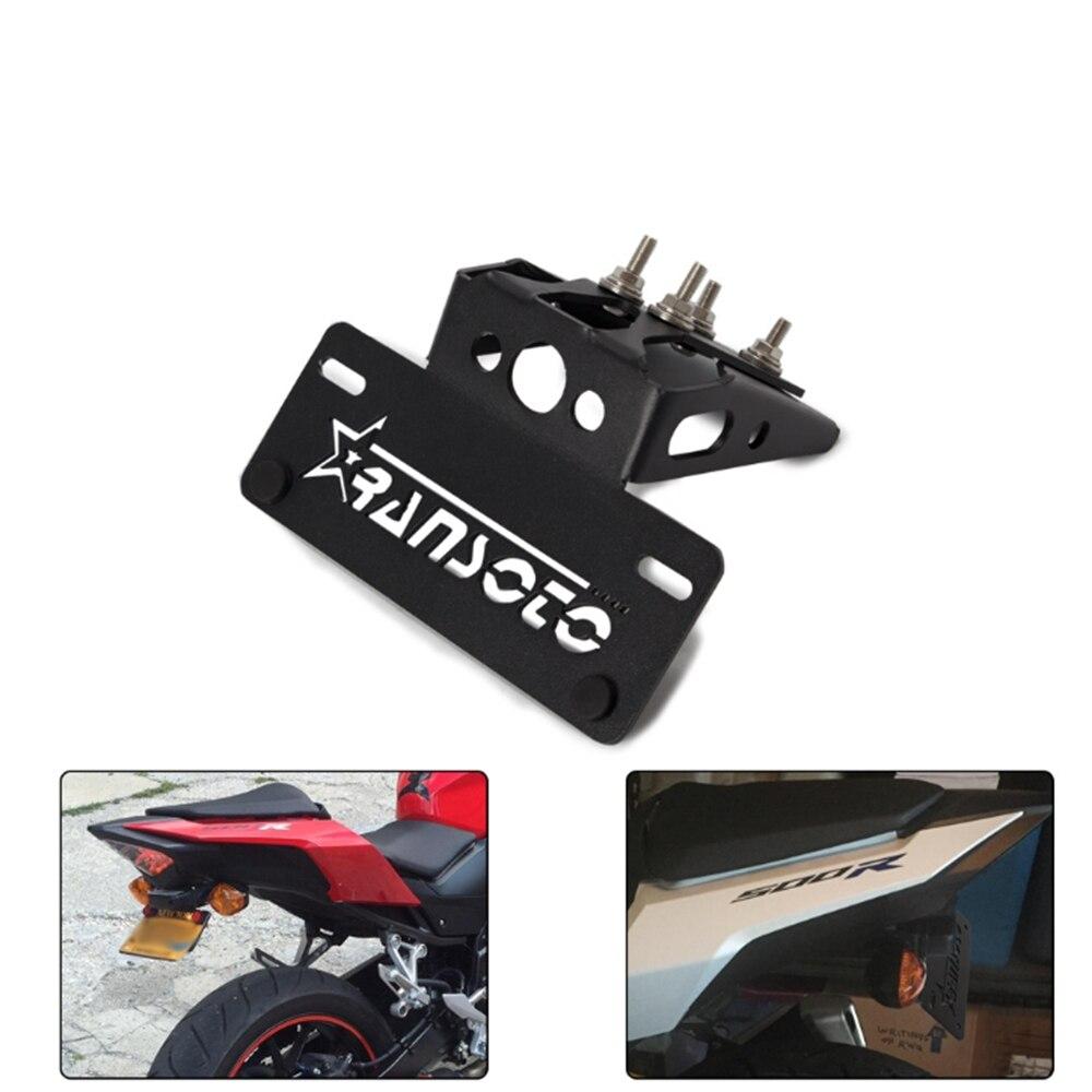 Pour HONDA CBR500R CB500F 2016-1019 support de plaque d'immatriculation arrière de moto support de plaque d'immatriculation support de queue garde-boue