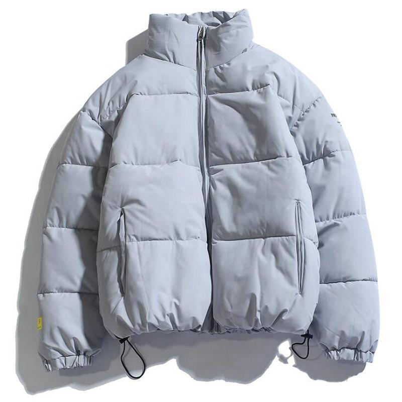 2021 Winter Coat Men's Warm Parkas Streetwear Cotton Coats Slim Male Jackets Solid Windproof Padded Coat Mens Clothing