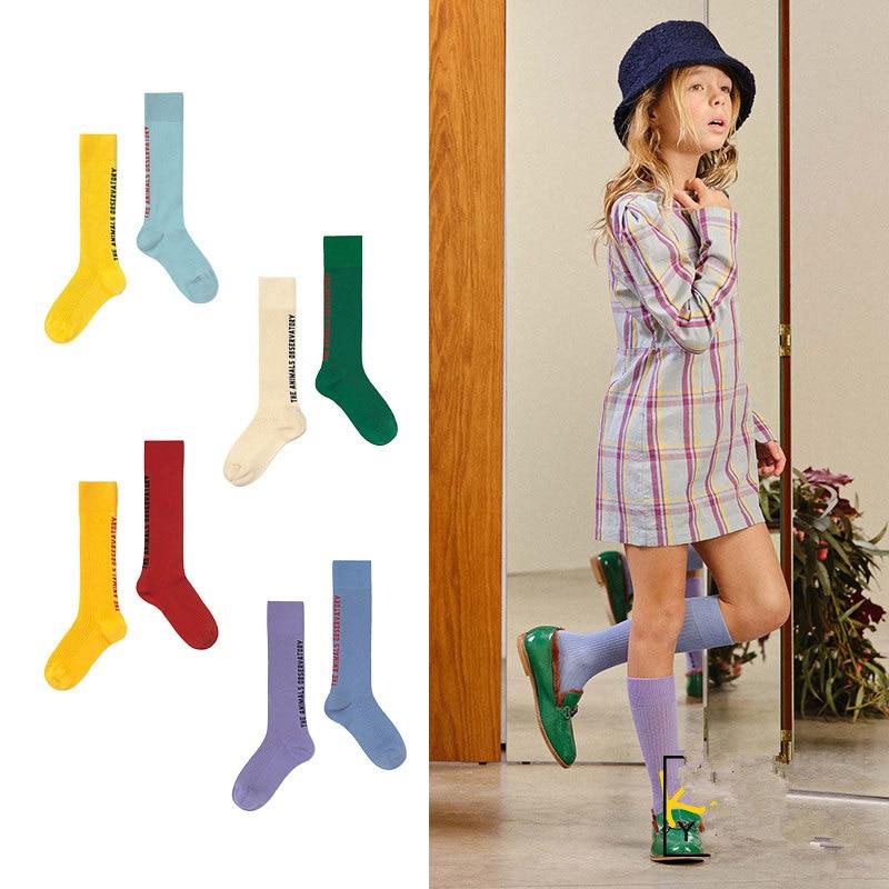 Kids AB Socks TAO Brand 2021 New Baby Girls Knee High Long Soft Sock Cotton Candy Cotton Tube Socks Bebes Newborn Boys Children 1
