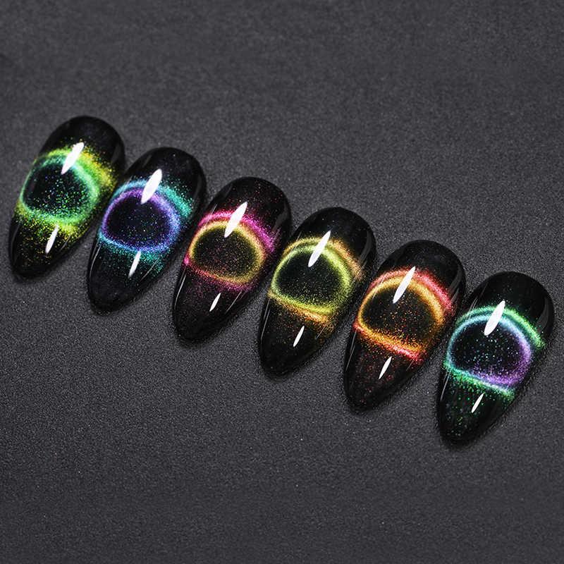ניקול יומן 9D גלקסי חתול עין נייל ג 'ל זיקית מגנטי לספוג את UV/LED נייל לכה 5ml חצי קבוע ג 'ל לכה