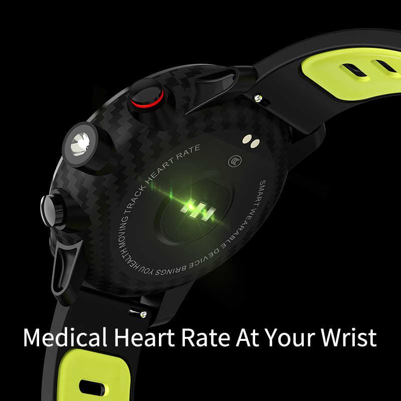 LEMFO L5 Relógio Inteligente Homens IP68 Full Touch Anti-As Impressões Digitais dos homens Relógio Dinâmico Freqüência Cardíaca Trackers de Saúde Inteligente relógios para Homens