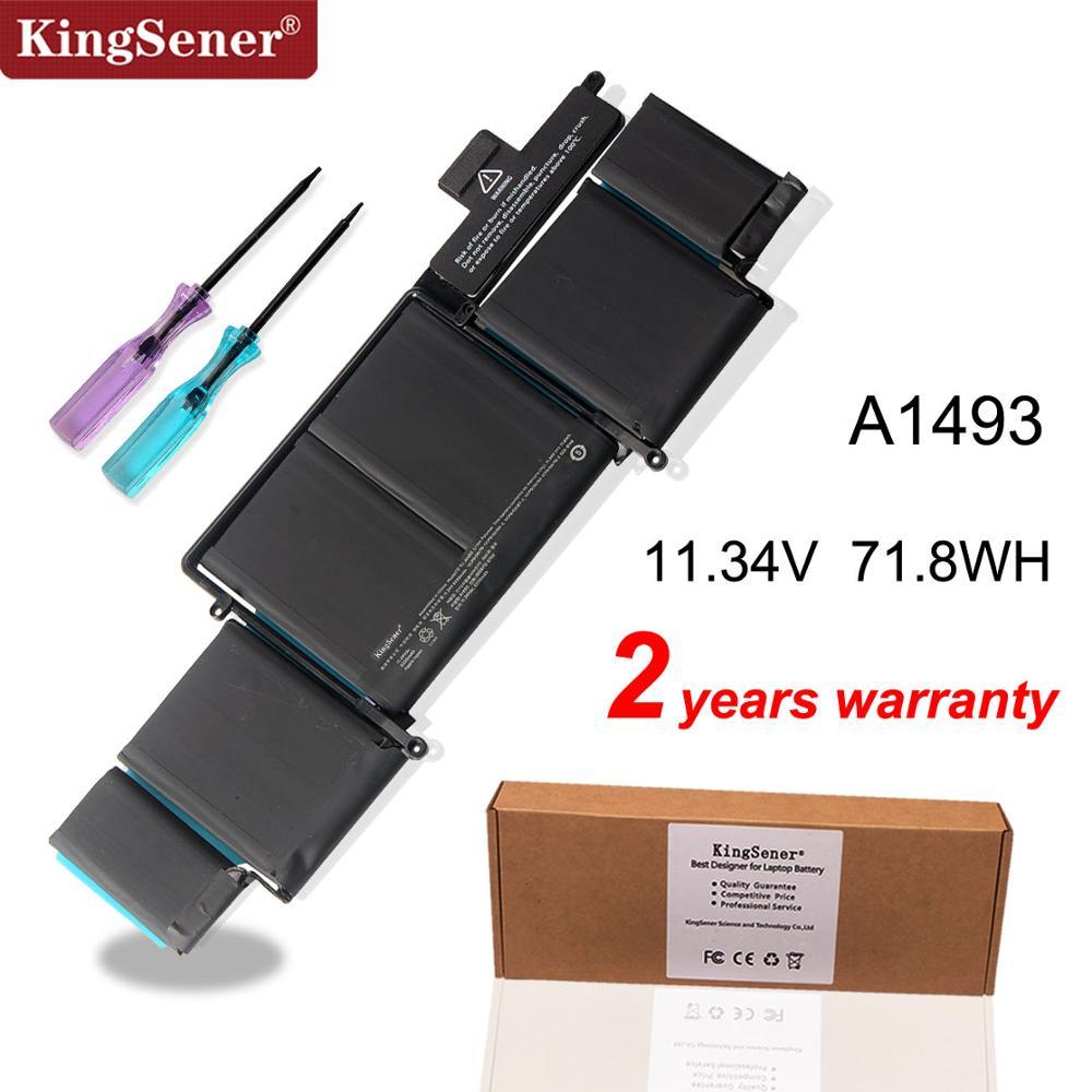 KingSener 11.34V 6300mAh A1493 Laptop Battery or Apple Macbook Pro Retina13-INCH A1502 (2013 2014 Year) Free Screwdriver