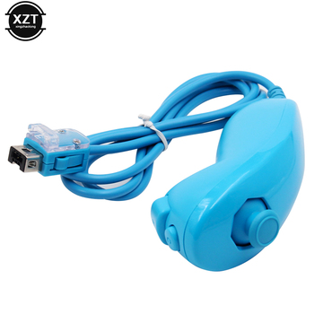 For Nintend Wii Game Controller Joystick Left Hand Curved Game Handle Controller Nunchuk For Nintendo Wii Gamepad Nunchuck game 6