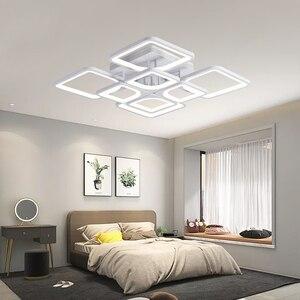 Image 2 - IRALAN נוריות נברשת קבועה בבית מודרני ברק לסלון חדר שינה kitchern בית נברשת לבן תאורת דגם 0126