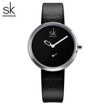 Shengke Luxe Quartz Vrouwen Horloges Merk Mode Dames Lederen Horloge Klok Relogio Feminino Voor Meisje Vrouwelijke Horloges 2020