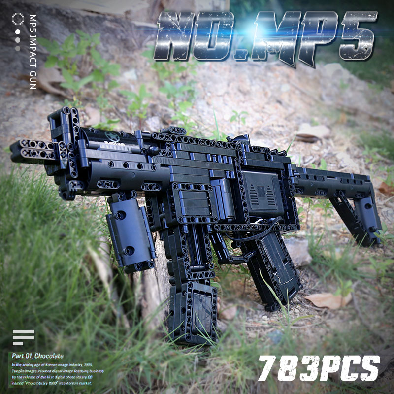 MOULD KING 14001 Power Motorized Gun Building Block Compatible WIth MOC-29369 MP5 Submachine