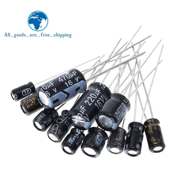 120pcs 1set of 120pcs 12 values 0.22UF-470UF Aluminum electrolytic capacitor assortment kit set pack 1