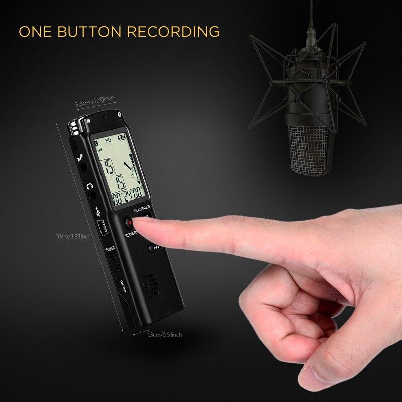 Портативный 32 Гб оригинальный диктофон USB Профессиональный 96 часов ЖК диктофон цифровой Аудио Диктофон с WAV mp3-плеер