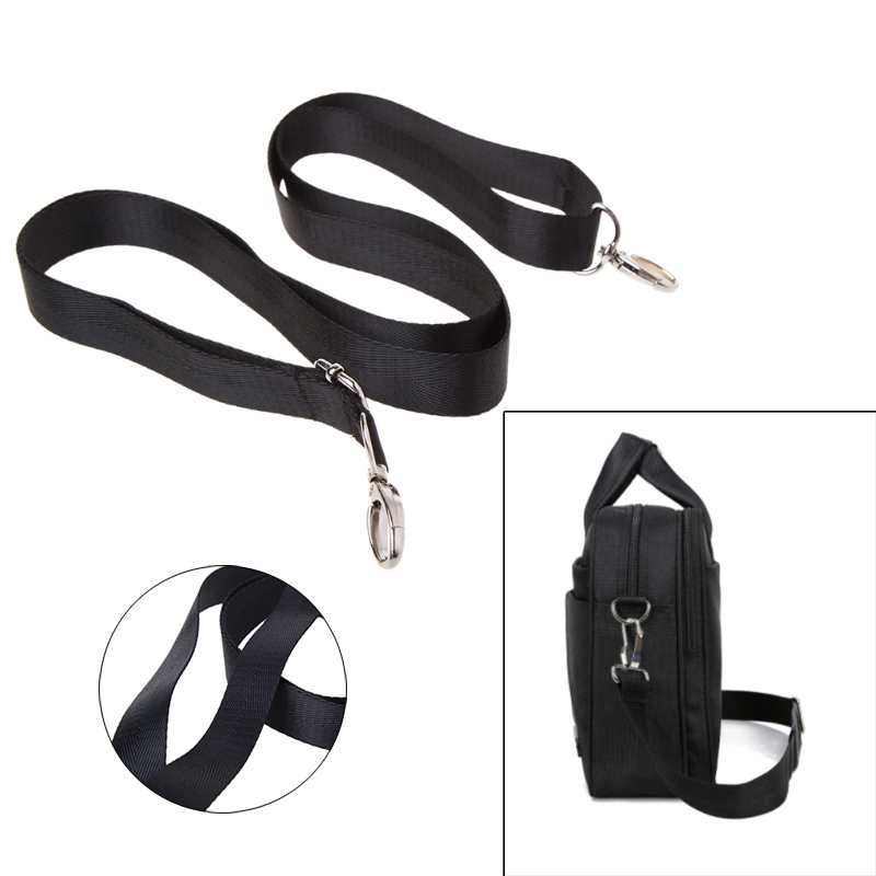 New Adjustable Nylon Shoulder Bag Belt Replacement Laptop 150CM Bag Straps Black Detachable Shoulder Belt Bags Accessory Gadget