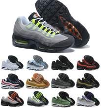 Zapatos de correr para hombre Shox 95, zapatillas deportivas de deporte de malla transpirable, color negro, baratos, Shox NZ R4