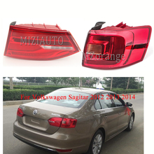 MIZUAUTO For Volkswagen Sagitar 2012 2013 2014 Warning Rear tail light Warning Light Brake Light Rear Bumper Light Fog lamp