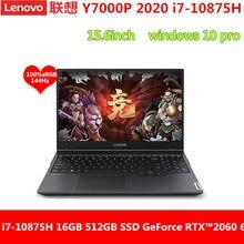 Lenovo gaming portátil y7000p com intel core I7-10870H nvidia geforce rtx2060 placa gráfica 16g 512g/1tb 15.6-inch retroiluminado