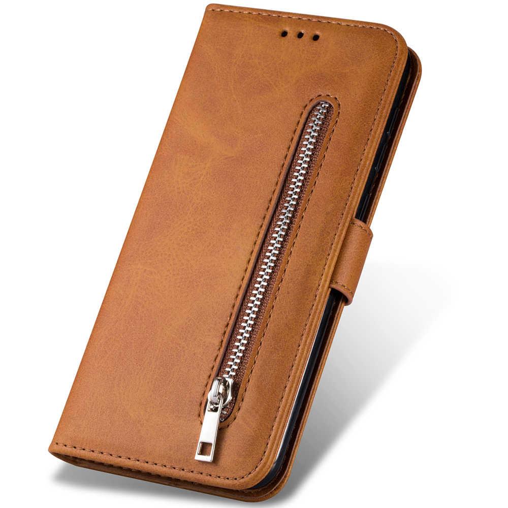 Dla Samsung przypadku A5 A6 A7 2017 2018 A10 A20 A30 A40 A50 A60 A70 E A11 A21 S A31 A51 A71 90 5G Galaxy etui z klapką ze skóry zip etui na telefon
