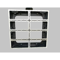 Gabinete vacío de aluminio de fundición a presión de 640x640mm P5/P10 pantalla led de interior al aire libre armario vacío p5 panel de alquiler